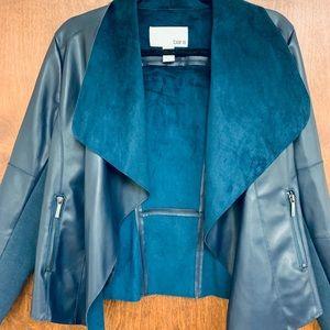 Flyaway Faux Leather Jacket Sapphire Blue